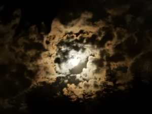 Moon behind the clouds August 2015